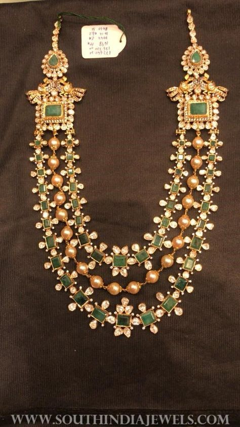 Gold Emerald Step Haram From Psj Jewelry Necklace