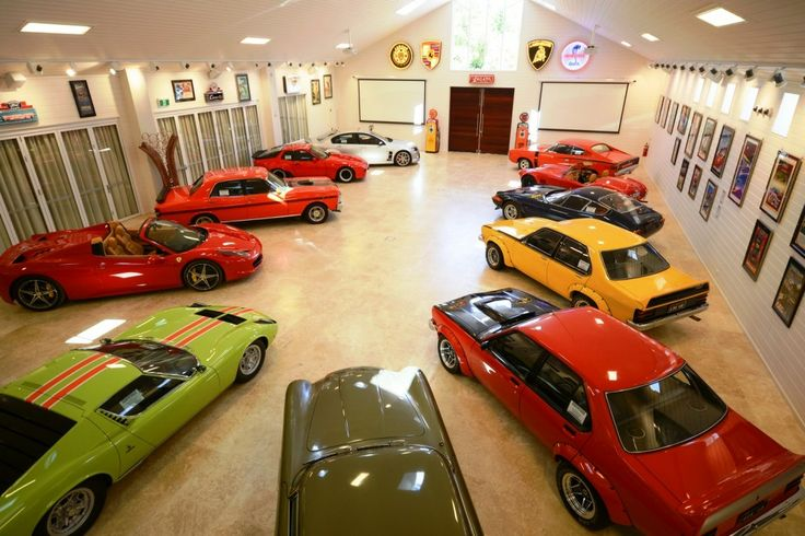 Car gallery at Aravina Estate, perfect for the 'Big Boys' in the family! Visit http://www.aravinaestate.com
