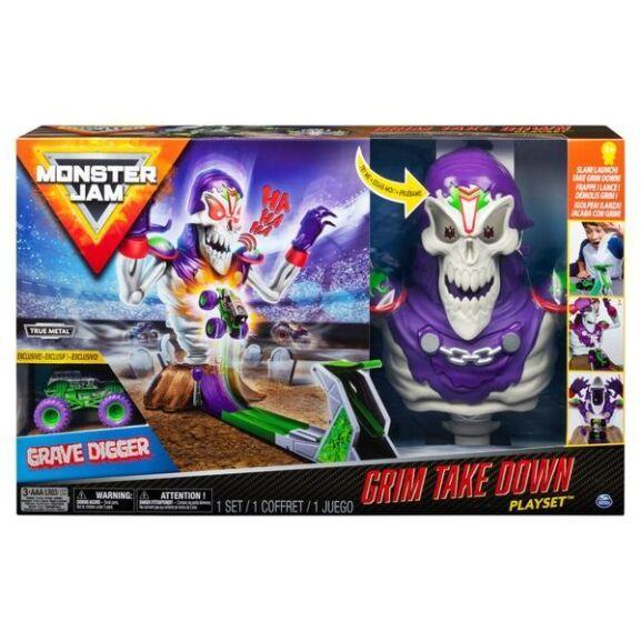 Monster Jam Grim Takedown Playset 24 99 Smyths Traveldeals Monster Jam Toys Monster Trucks Monster Jam