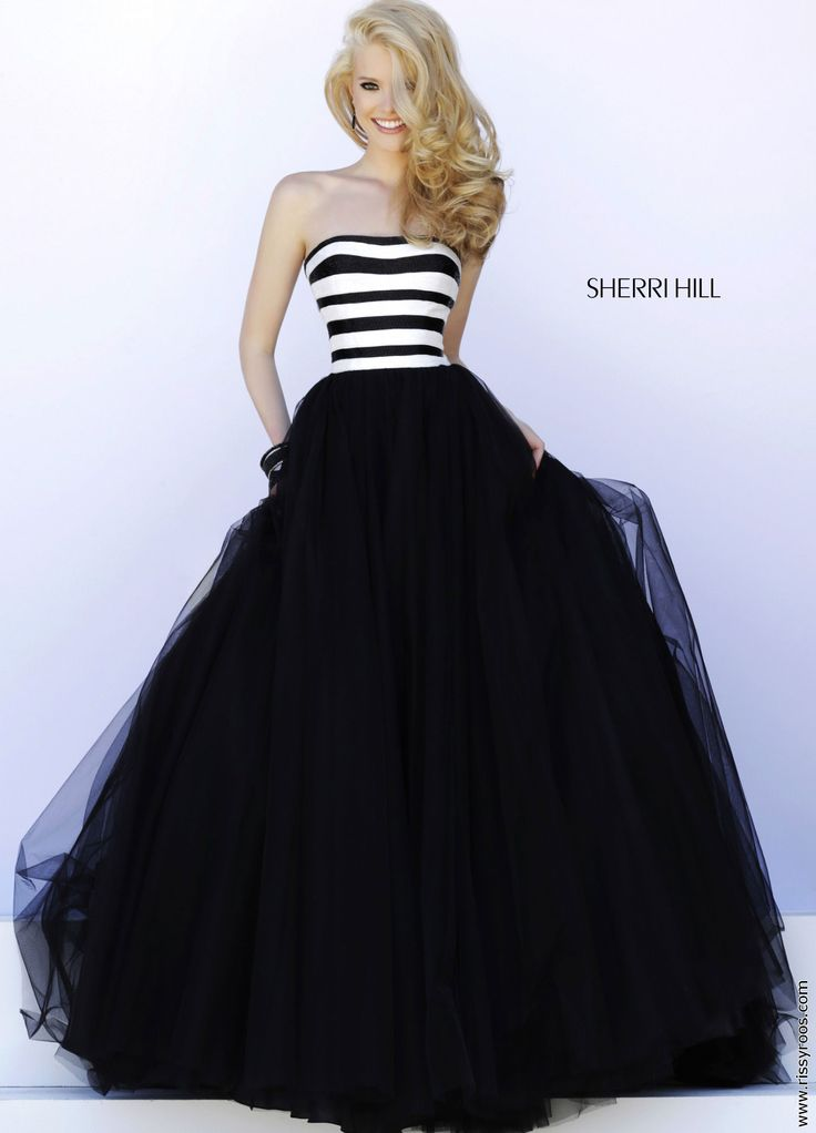 Black and White Striped Ballgown - Sherri Hill 32174 http://thepageantplanet.com/  I NEED THIS !!!!!!!!