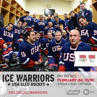Meet the 2014 U.S. Paralympics Sled Hockey Team. Tune in for a behind-the-scenes look at their road to Sochi in the new action-packed documentary, ICE WARRIORS. The team's athletic prowess will blow your mind while their stories warm your heart. ICE WARRIORS premieres on Monday, February 24th at 10pm ET on PBS (check local listings). pbs.org/icewarriors #IceHockey #Paralympics #SledHockey #Sochi2014