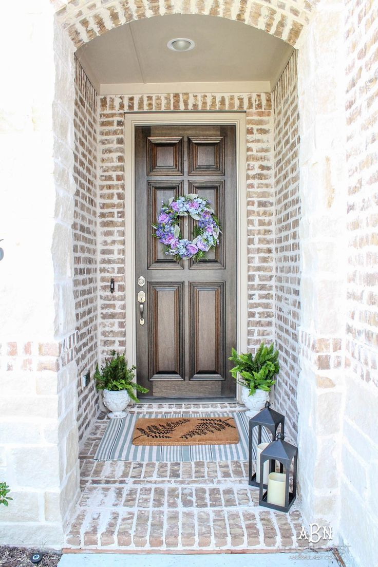 summer front entryway decorating ideas
