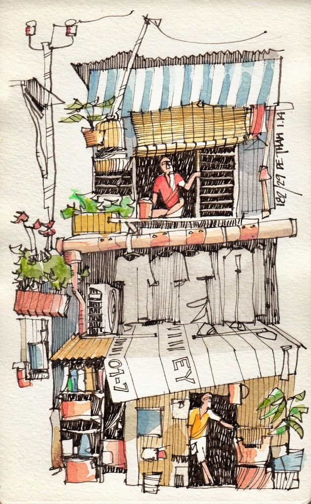 Jorge Royan - Urban Sketching - Alley