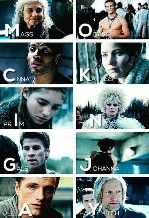 its spelling mockingjay out of peoples last/first name, thats so cool!