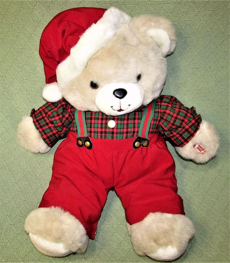 "24"" Vintage Humfrey TALKING Teddy Bear WILL YOU BE SANTA'S HELPER Plush Stuffed  #MTY"