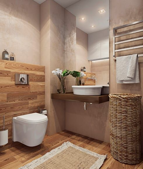 18 beautiful bathrooms, where wood is the star