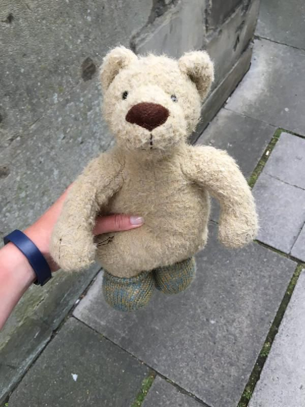 Found on 12 Jul. 2016 @ The Paragon, Bath. Lovely teddy found outside St Swithins Church, The Paragon, Bath. He is still wearing his socks! Visit: https://whiteboomerang.com/lostteddy/msg/g2ptuq (Posted by Beth on 13 Jul. 2016)