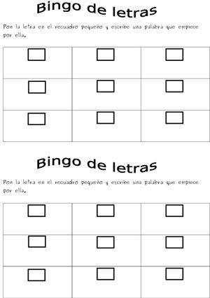 El alfabeto- Bingo de letras