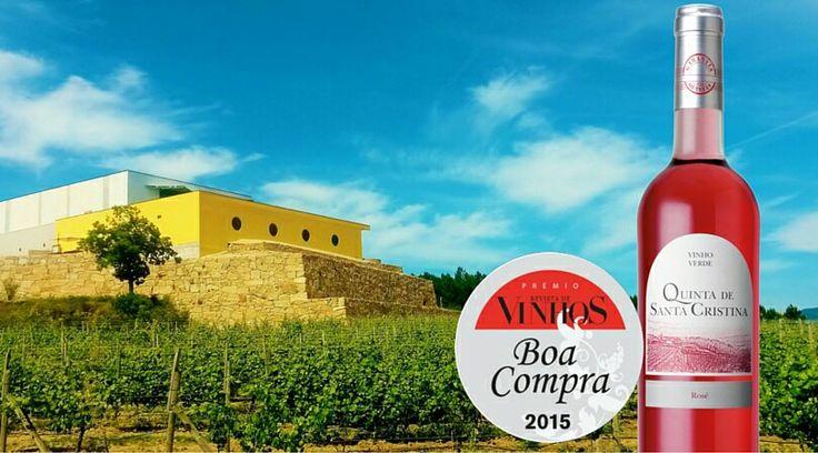 Vinho Rosé Quinta de Santa Cristina: uma das melhores compras 2015, pela Revista de Vinhos! #vinhoverde #winetourism #enoturismo #celoricodebasto #winetasting #winetour #winelover #foodlover #boacompra