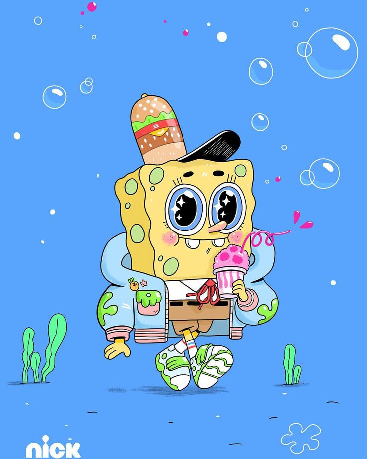 """Little guy! This is the last piece of the """"fan art"""" I did of SpongeBob Patrick Star and Sandy SquirreI. These were animated and will air during commercial breaks starting this weekend! by natalikoromoto"""