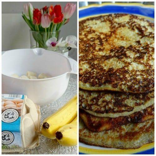 Pannenkoeken bakken zonder melk, boter en bloem. Pannenkoekenbeslag kun je ook maken van banaan en eieren. Het resultaat: heerlijke luchtige pannenkoeken.