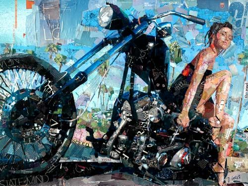 collage art japan | mixed media art motorcycle photography collage photography collage art ...