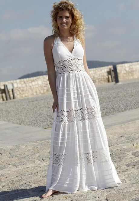 Modelos de vestido blanco playero