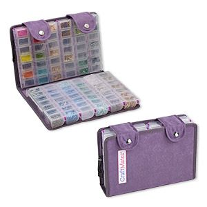 Craft Mates™ EZY Lock™ Double Snappin organizer™, 12-locking caddies, 6-1/4 x 9-1/2 x 2-1/4 inches overall. Sold individually.