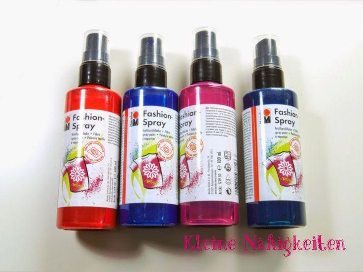 Kleine Nähigkeiten: Marabu Fashionspray: T-Shirt selbst designen SO einfach :-)