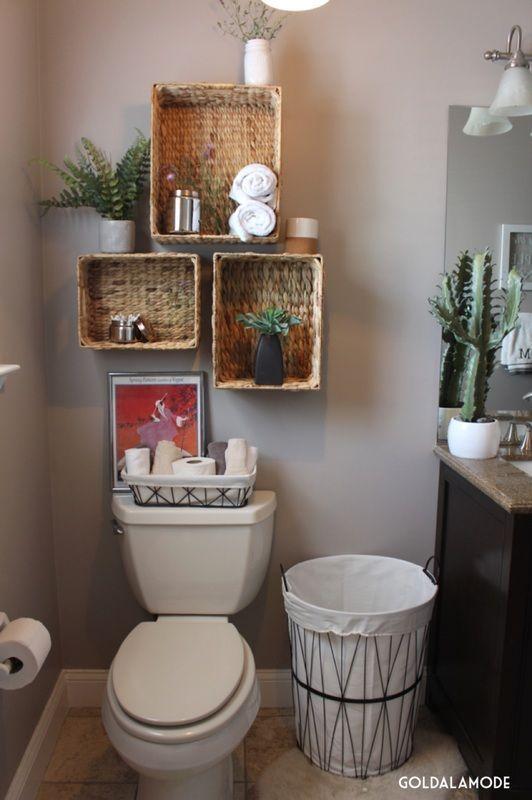 25 idées gain de place au dessus des WC! Inspirez-vous