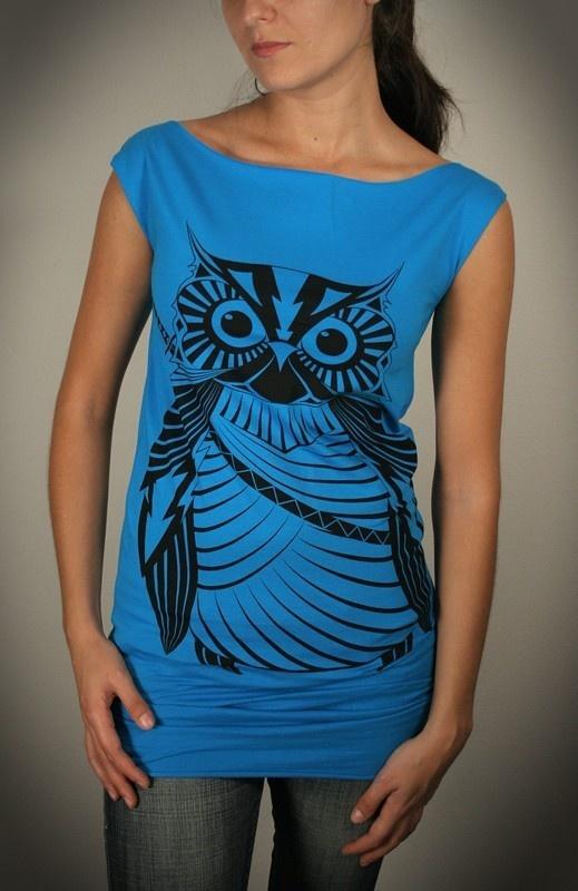 DIY owl shirt