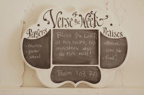 Oraciones y alabanzas verso de semana pizarra  escritura por kijsa