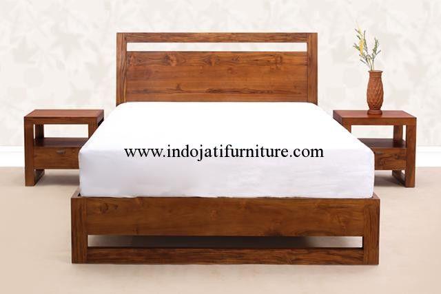 Dipan Minimalis Jati 2 Nakas,dipan jati,harga dipan minimalis murah,dipan kayu jati,teak bed,desain dipan terbaru,jual dipan minimalis,dipan mewah modern,tempat tidur minimalis,tempat tidur murah,tempat tidur apartemen,jual tempat tidur