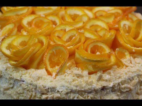 Украшение Апельсиновые Розы ✧ Школа Домашнего Кондитера - YouTube