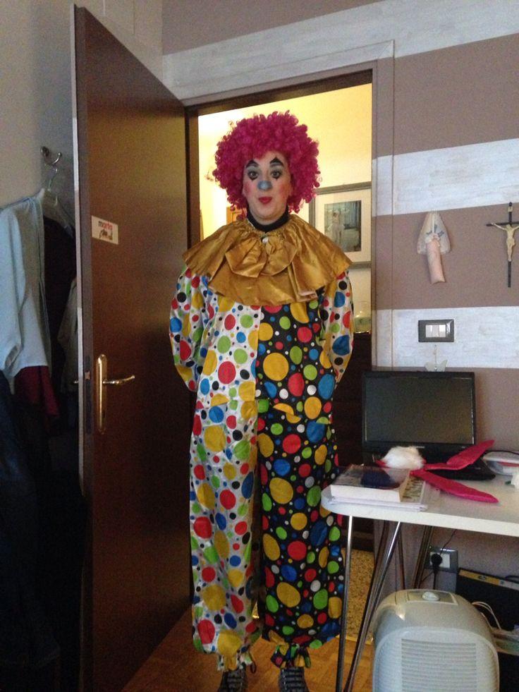 Carnevale : trucco da pagliaccio su mia sorella..by me