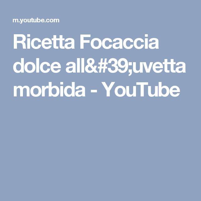 Ricetta Focaccia dolce all'uvetta morbida - YouTube