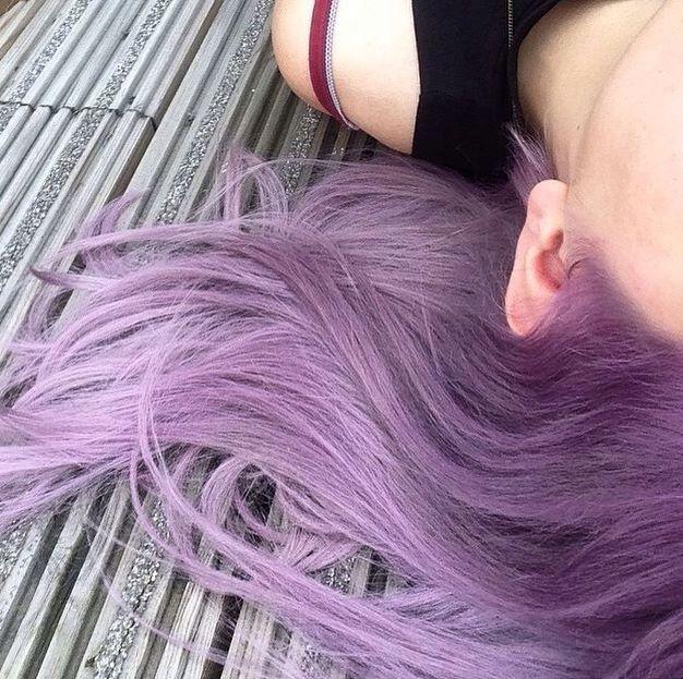 #Pastel #purple #hair #hairstyle #pastelpurple