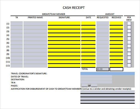 Cash Receipt Templates 21 Free Printable Xlsx And Docs Formats Receipt Template Templates Receipt