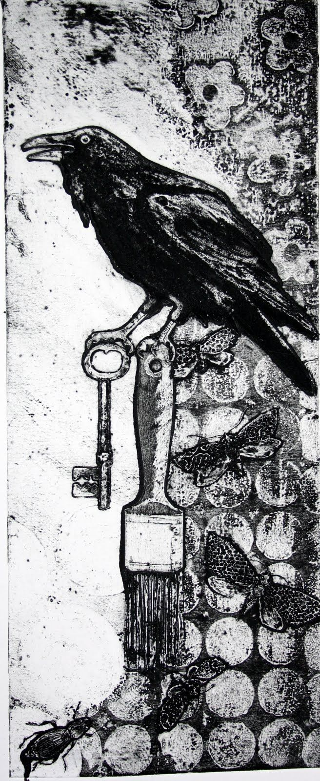 """Sue Brown. Love the use of background here. """"The Raven"""" Challenge. {30/365}"""