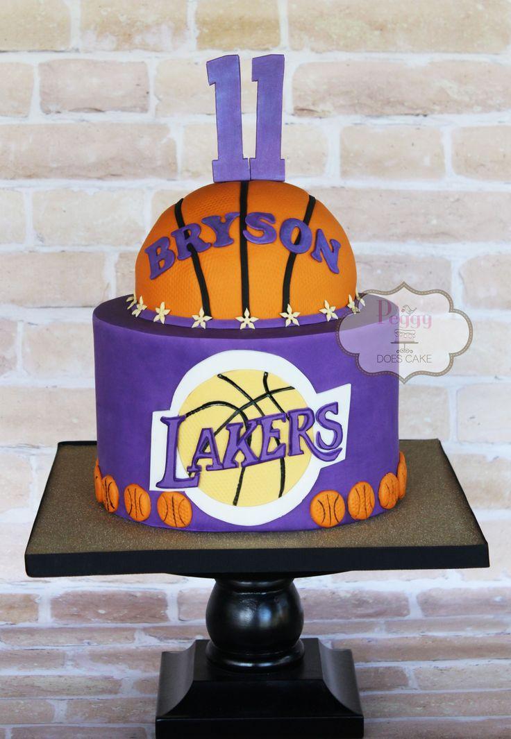 Peggy Does Cake, Brandon, Mississippi ~ Lakers cake ~ Basketball cake