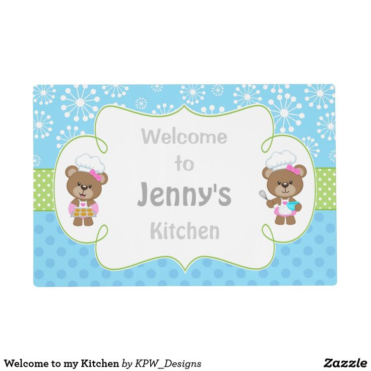 Welcome to my Kitchen Placemat