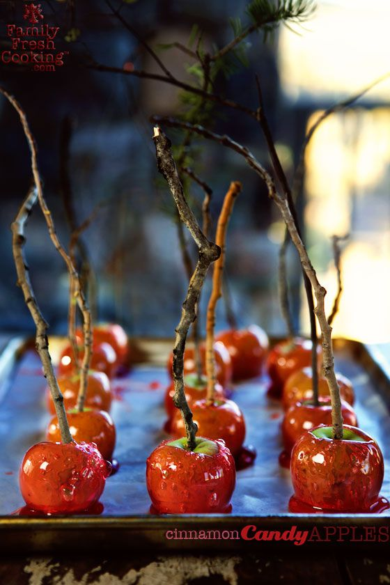 Mini Cinnamon Candy Apples - Halloween Recipes for the Classiest Party on the Block