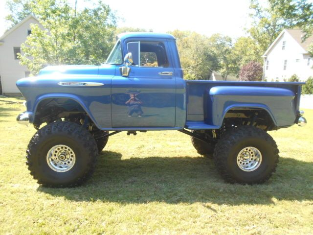 1957 Chevy Apache 4x4 Shortbed Stepside Show Truck Monster Truck