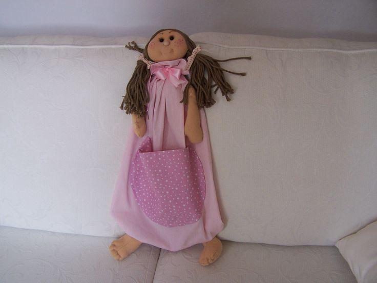 range-pyjama fillette entièrement fait à la main. Modèle unique. Parfait pour une petite fille toute douce !