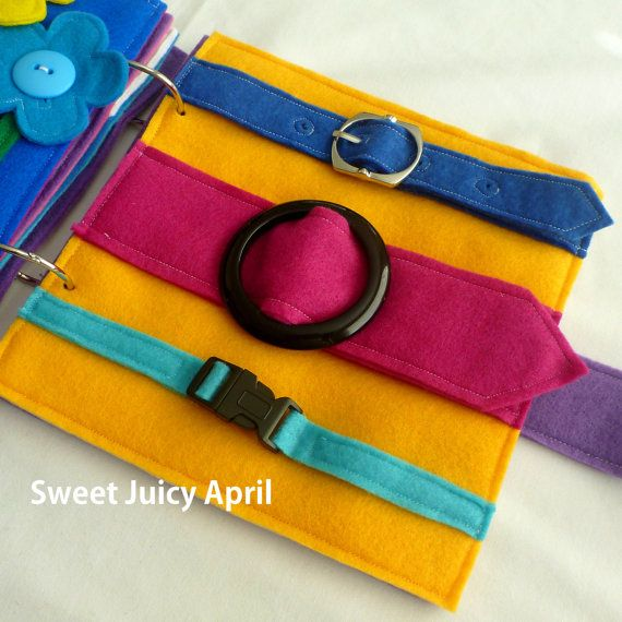 Buckle Quiet Book Page por SweetJuicyApril en Etsy