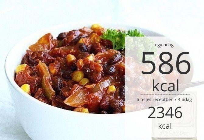 Chili sin Carne - a vegán chilis bab | NOSALTY