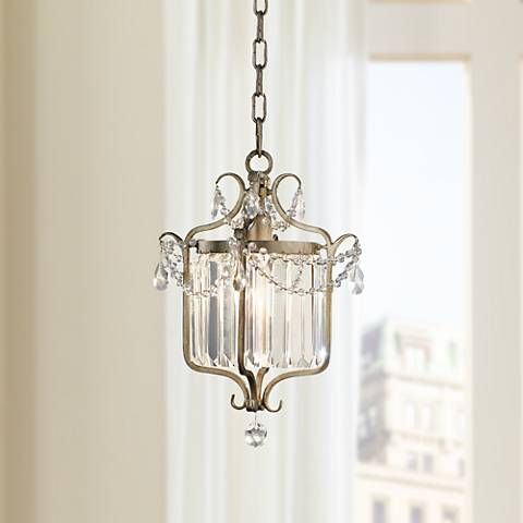 A beautiful feiss mini pendant design with gilded silver finish mini pendant lightspendant