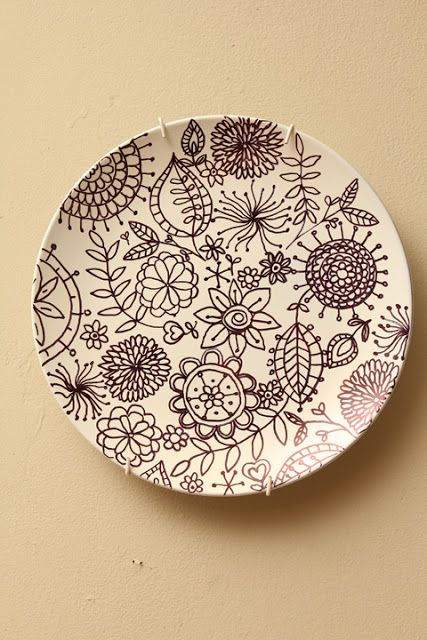 Best 25 Painted Plates Ideas On Pinterest Sharpie