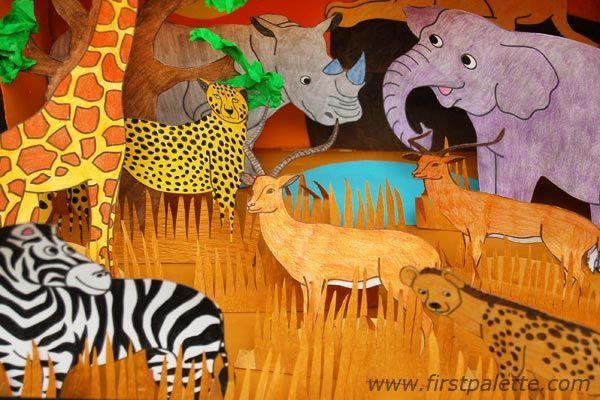 Step 10d African Savanna Habitat Diorama