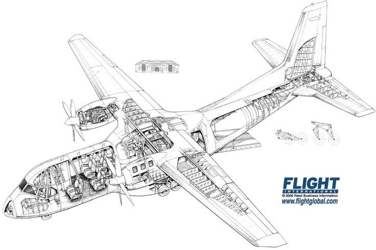 CN-235 cutaway