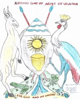 National Coat of Arms of Uganda by Muhwezi Brian of Homecare Preparatory School, Uganda