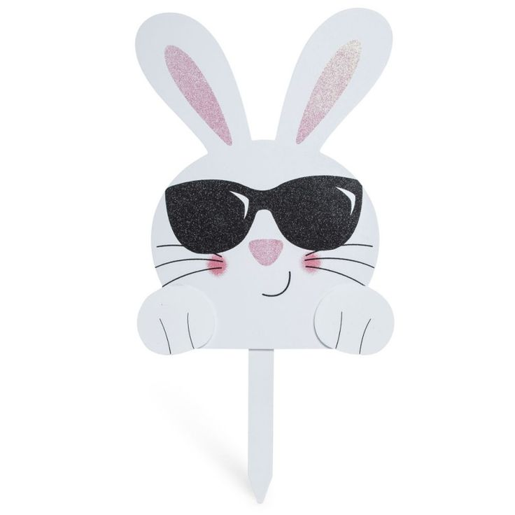 Easter Bunny Lawn Stake 24 Inch