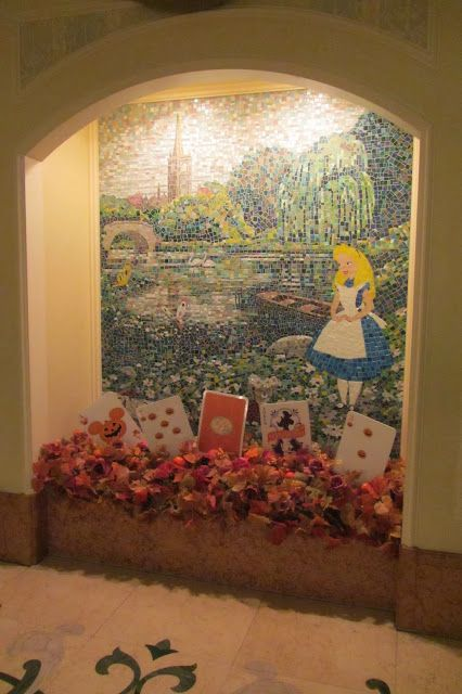 17 best images about alice on pinterest door handles for Alice in wonderland mural