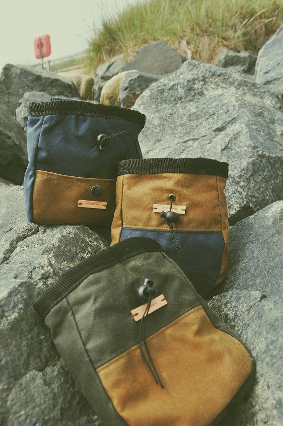 Fernweh Medium Wax Cotton Rock Climbing Chalk Bag by FernwehUK