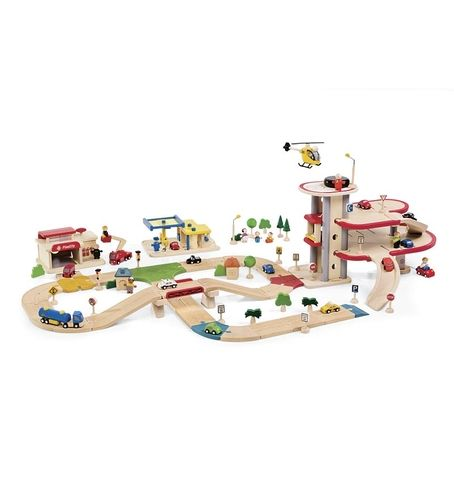 Wooden Toys Catalog : Magic cabin piece planwood deluxe road system wooden