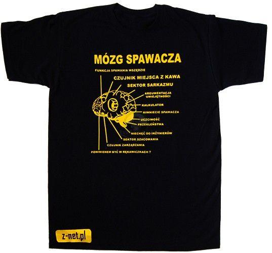 Koszulka z nadrukiem Mózg Spawacza T-Shirt #spawanie #koszulki #spawacz #koszulka Dostępna na z-net.pl