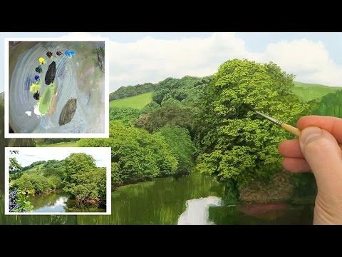How To Paint Detailed Trees | Oil Painting Tutorial - YouTube