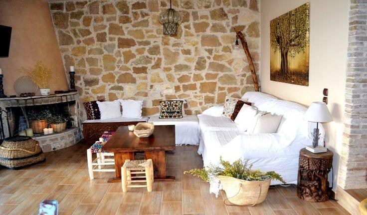Boheme stone villa with private pool in Evia Island