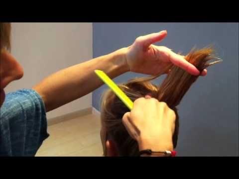como cortar el cabello en capas con el cabello seco - how to cut hair in layers - YouTube