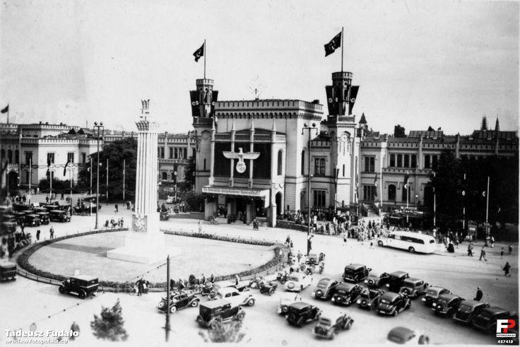 Wrocław Poland 1938 r. Dworzec Kolejowy